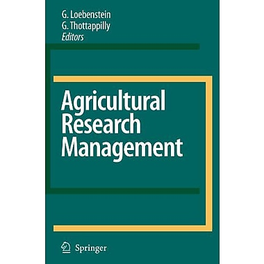 Agricultural Research Management (9789048175208)
