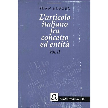 Larticolo Italiano Etudes Romanes Institut Detudes Romanes Universite De Copenhague, New Book (9788772893983)