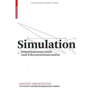 Simulation Kontext Architektur German Edition (9783764386856)