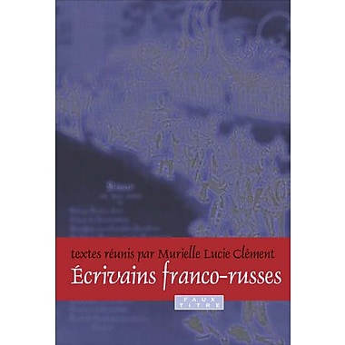 Ecrivains Franco-Russes Faux Titre French Edition, Used Book (9789042024267)