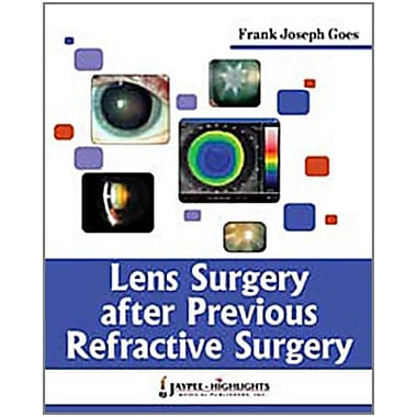 Lens Surgery After Previous Refractive Surgery, Used Book (9789380704647)