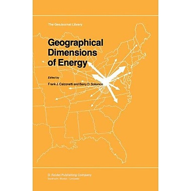 Geographical Dimensions Of Energy Geojournal Library, New Book (9789027720610)