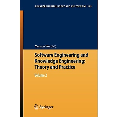 Software Engineering And Knowledge Engineering Theory And Practice Volume 2, Used Book (9783642253485)