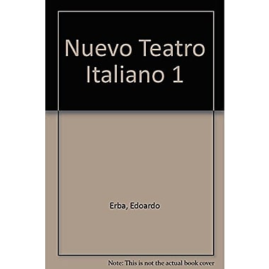 Nuevo Teatro Italiano 1 / New Italian theater (Spanish Edition), Used Book (9789505154326)