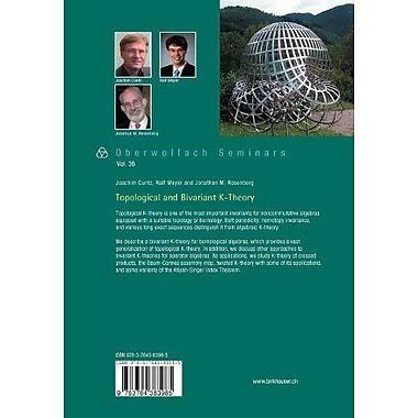 Topological and Bivariant K-Theory (Oberwolfach Seminars), New Book (9783764383985)