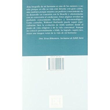 El Verdadero Rostro De Edith Stein/ The True Face Of Edith Stein (Spanish Edition) (9788474902464)