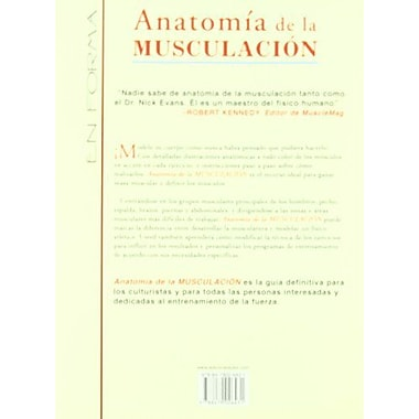 Anatomia De La Musculacion (Spanish Edition), Used Book (9788479026431)