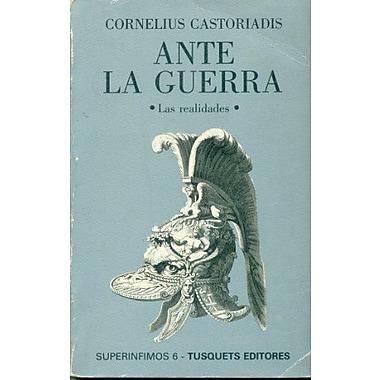 Ante La Guerra (Spanish Edition), Used Book (9788472234567)