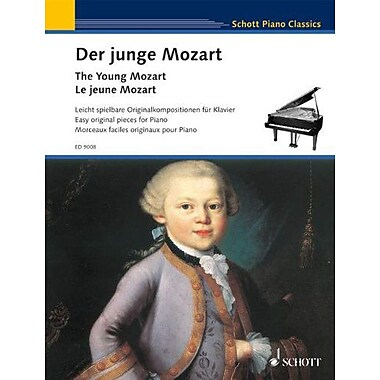 The Young Mozart - Easy Original Pieces for Piano: Schott Piano Classics, Used Book (9790001113861)