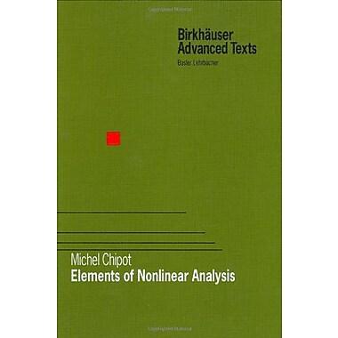 Elements of Nonlinear Analysis (Birkhauser Advanced Texts Basler Lehrbucher), New Book (9783764364069)