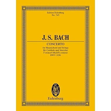 COINCERTO FOR HARPSICHORD AND STRINGS F MINOR BWV156 STUDY SCORE, Used Book (9783795769222)