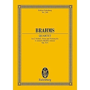 STRING QUARTET OP.51/1 C MINOR STUDY SCORE (Edition Eulenburg), New Book (9783795769611)
