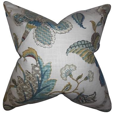 The Pillow Collection Gracen Floral Cotton Throw Pillow Cover