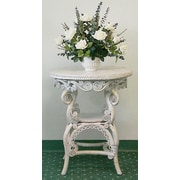 Yesteryear End Table; White