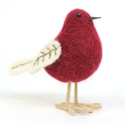 Sage & Co. Lodge Standing Felt Bird; Burgundy