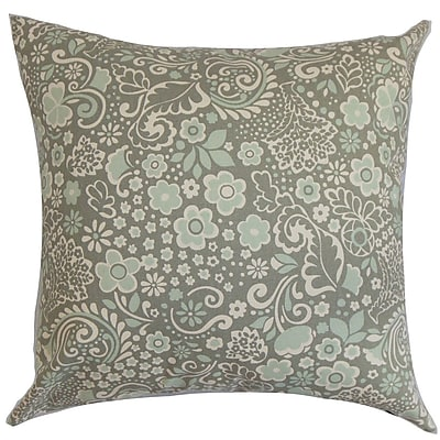 The Pillow Collection Manchineel Floral Cotton Throw Pillow Cover