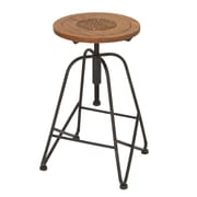 Woodland Imports Adjustable Height Bar Stool