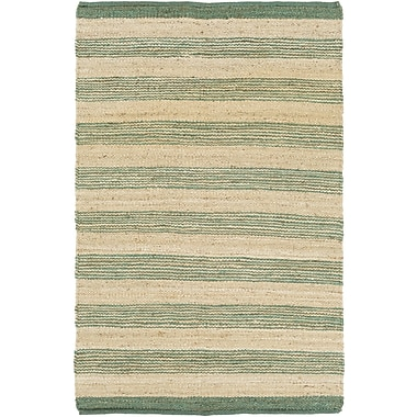 Artistic Weavers Portico Lexie Hand-Woven Teal/Natural Area Rug; 2' x 3'
