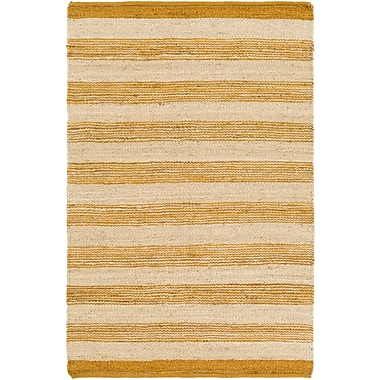 Artistic Weavers Portico Lexie Hand-Woven Gold/Natural Area Rug; Runner 2'3'' x 8'