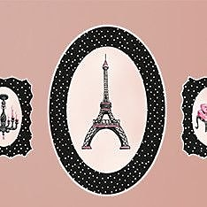 GreenBox Art ''Pretty In Paris Peel and Place'' by Sherri Blum Window Sticker WYF078278329346