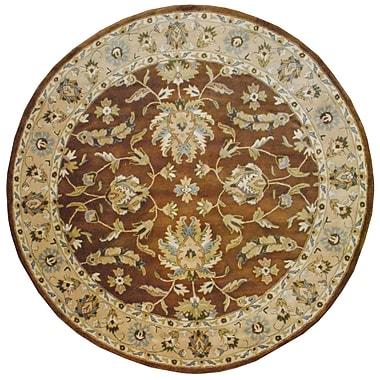Herat Oriental Hand-Tufted Brown/Beige Area Rug; Round 8'