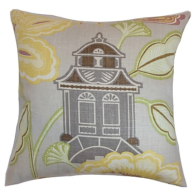 The Pillow Collection Yasawa Floral Cotton Throw Pillow Cover