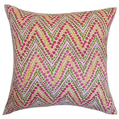 The Pillow Collection Maesot Zigzag Cotton Throw Pillow Cover
