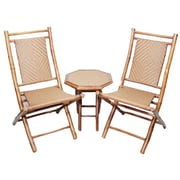 Heather Ann 3 Piece Seating Group; Brown