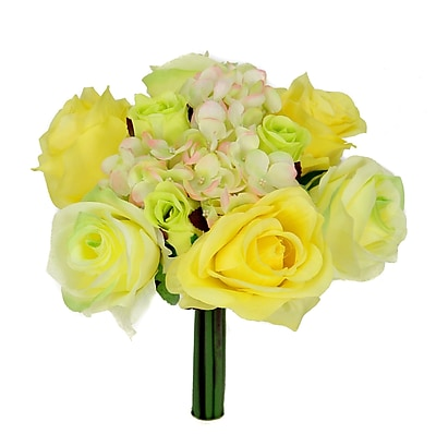 AdmiredbyNature 12 Stems Artificial Rose Bouquet; Seamist