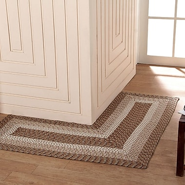 Better Trends Country Hand-Braided Beige Area Rug; 4' x 4'