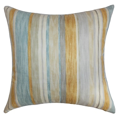 The Pillow Collection Narkeasha Stripes Cotton Throw Pillow Cover