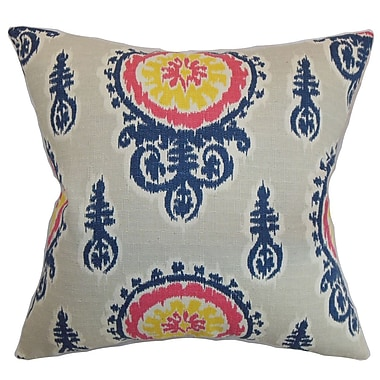 The Pillow Collection Oenpelli Ikat Cotton Throw Pillow Cover; Birch