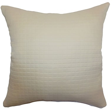 The Pillow Collection Obadiah Quilted Cotton Throw Pillow Cover