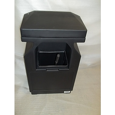 Forte Product Solutions Windshield Service Trash Can; Black