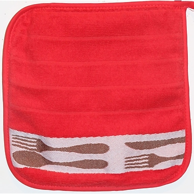 Mierco Cutlery Terry Potholder (Set of 2); Red