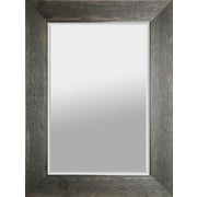 Hobbitholeco. Hand Stained 34'' x 46'' Wood Beveled Mirror - Black