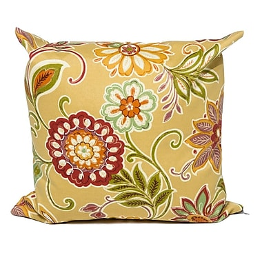 TK Classics Golden Floral Outdoor Throw Pillow (Set of 2)