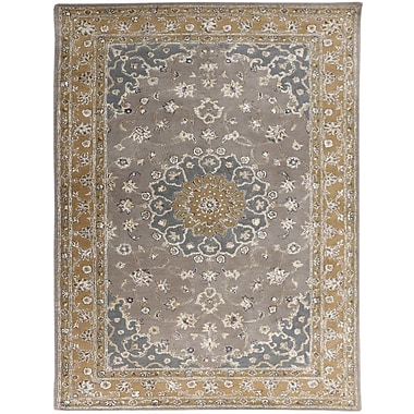 AMER Rugs Eternity Hand-Tufted Gray/Gold Area Rug; Rectangle 5' x 8'