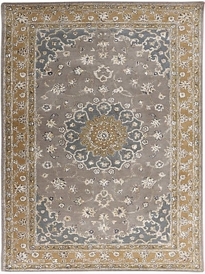 AMER Rugs Eternity Hand-Tufted Gray/Gold Area Rug; Rectangle 8' x 11'