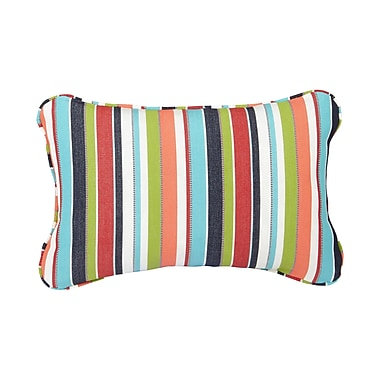 Mozaic Company Corded Colorful Outdoor Sunbrella Lumbar Pillow (Set of 2); 12'' H x 24'' W