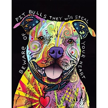 My Wonderful Walls Beware of Pit Bulls Wall Decal; Extra Large