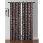 Window Elements Camille Curtain Panels (Set of 2); Taupe/Chocolate