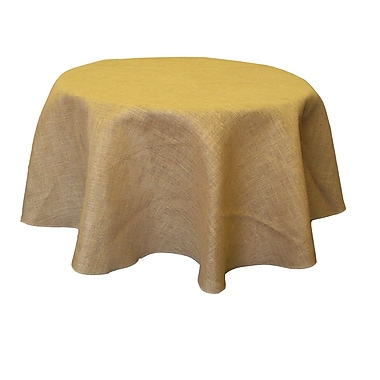 LA Linen Burlap Tablecloth; 51'' W x 51'' L