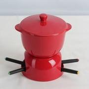 Omniware Chocolate Fondue Set; Red