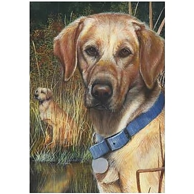 The Cranford Group Yellow Lab Garden Flag