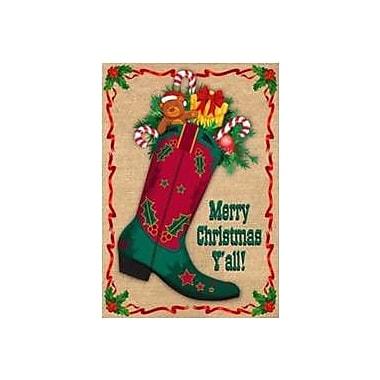 The Cranford Group Merry Christmas Ya'll Boot Garden Flag