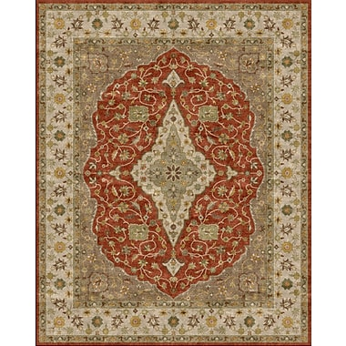Due Process Stable Trading Co Bidjar Hand-Tufted Terracotta/Sand Area Rug; Rectangle 2'6'' x 4'