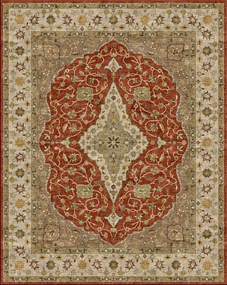 Due Process Stable Trading Co Bidjar Hand-Tufted Terracotta/Sand Area Rug; Square 10'