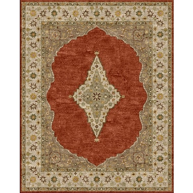 Due Process Stable Trading Co Bidjar Hand-Tufted Terracotta/Sand Area Rug; Rectangle 8' x 10'