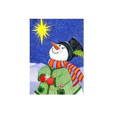 The Cranford Group Snowman and Star Garden Flag
